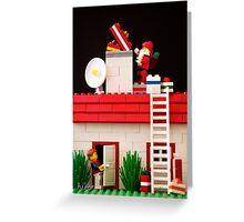Who's That Up On The Roof? Greeting Card