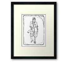 Haku (Uncoloured) Framed Print