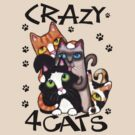 Crazy Cat Lovers T-Shirt by Jamiecreates1