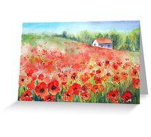 Scarlet Carpet Greeting Card
