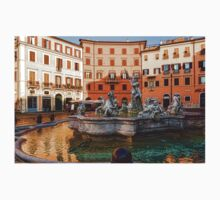 Neptune Fountain on Piazza Navona - Impressions Of Rome Kids Clothes