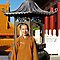  Nan Tien Buddhist Temple - Ven. Ru Yi in front of Incense Burner at Main temple by Vanessa Pike-Russell