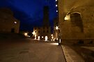 San Giminignano Italy at night #2 by Moshe Cohen