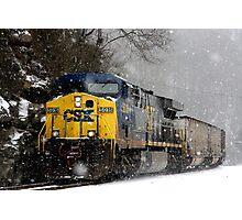 Snow Storm CSX Photographic Print