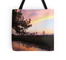 BANNERS OF LEMON LIGHT - SUNSET ON ECONFINA CREEK Tote Bag
