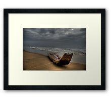 Stormy Skies ... Deep Seas Framed Print