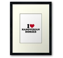 I love Hanoverian horses Framed Print