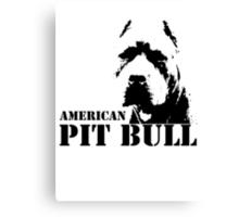 american pit bull Canvas Print