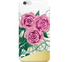 Card with pink roses iPhone Case/Skin
