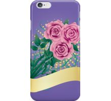 Card with pink roses 2 iPhone Case/Skin