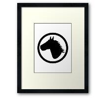 Horse head circle Framed Print