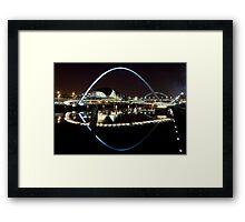 NewcastleGateshead Quayside By Night Framed Print