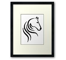 Horse head Framed Print