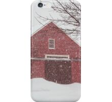 Winter Red Barn iPhone Case/Skin