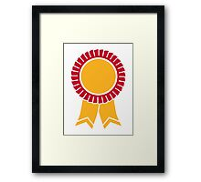 Rosette winners badge Framed Print