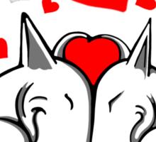 Bull Terriers In Love Sticker