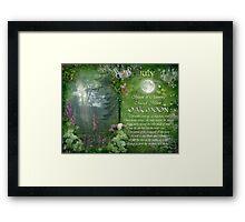 July : Oak Moon Framed Print