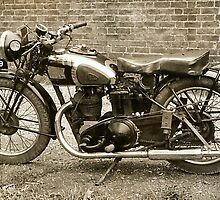1937 AJS 250cc  by Woodie