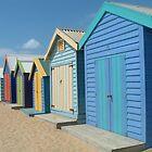 Beach Houses, Brighton Beach, Melbourne by Katherine Wiles