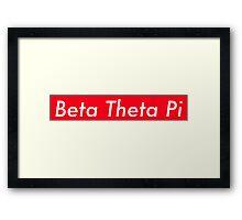 Beta Theta Pi Supreme Framed Print