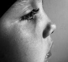 Portrait  B&W.... Sadness 2 by Nathalie Chaput