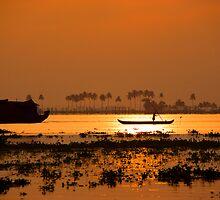 Kerala Backwaters Sunrise by Carlton Grooms