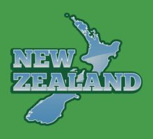 NEW ZEALAND map with NZ Kids Clothes
