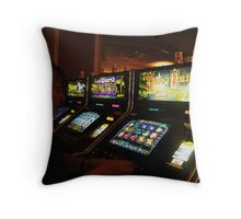 Fist time in Vegas Throw Pillow