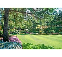 Summertime, the Butchart Gardens, Vancouver Island, BC, Canada Photographic Print