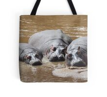 Hippos in The Mara Tote Bag