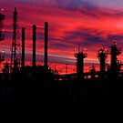 Louisiana Industrial Sunset by KSkinner