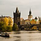 River Vltava and Charles Bride in Prague. by peterwey