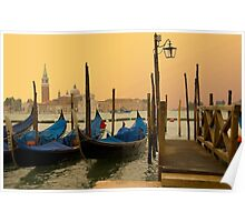 Sunset in Venice Italy Poster
