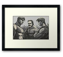 Final Fight - Characters  Framed Print