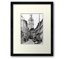 Streets of Sweden Framed Print