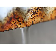 Rusted Pipes Photographic Print