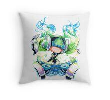 Chibi Kinetic DJ Sona Throw Pillow