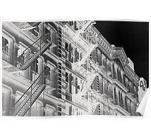 Abstract New York apartments Poster