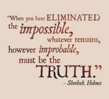 Sherlock Holmes - Eliminate the Impossible by Ashton Bancroft