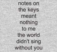 the world didn't sing without you (black text) by Colm Lawlor