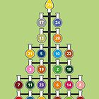 Chemist-Tree Advent Poster by Compound Interest