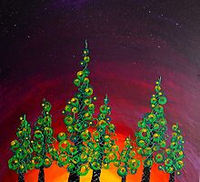 Tree Line at Gloaming by Michelle Ottey