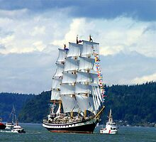 Tall Ship Pallada by Rhonda R Clements