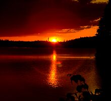 Sunset at Burntside Lake by Beth Wold