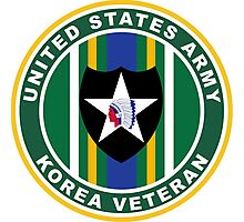 Army Korea Veteran - 2nd Infantry Division Photographic Print