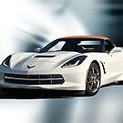 2014 Corvette Convertible 'Studio Blue' by DaveKoontz