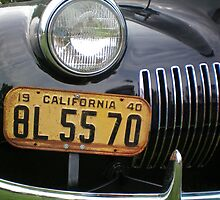 1940 LaSalle Front End with California Plate by Diane Trummer Sullivan