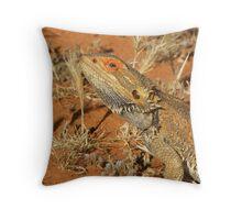 Bearded Dragon - front Half :) Throw Pillow