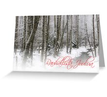 'Peaceful Christmas in Finnish part III' Greeting Card
