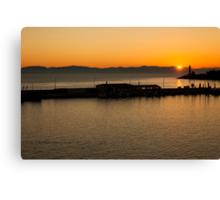 Sunrise over Gytheion Canvas Print